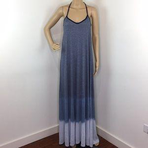 American Twist Ombré Ribbed Maxi Dress